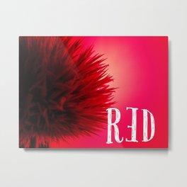 RED : simply Metal Print