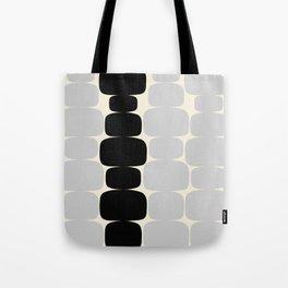 Abstraction_Balance_ROCKS_BLACK_WHITE_Minimalism_001 Tote Bag