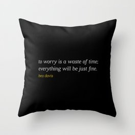Bea Davis—Black Throw Pillow