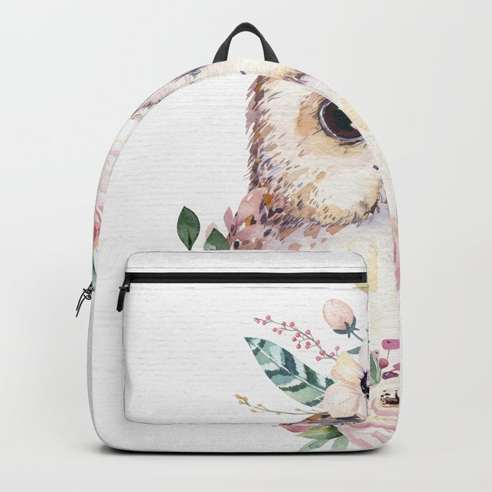 Forest Owl Floral by Nature Magick Backpack