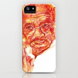 MAHATMA GANDHI - watercolor portrait iPhone Case