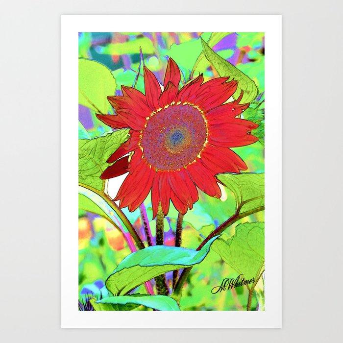 Sunflower Brillance Art Print