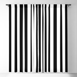 Stripe Black And White Vertical Line Bold Minimalism Stripes Lines Blackout Curtain