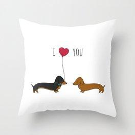 DACHSHUND LOVE Throw Pillow