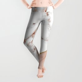 Marble rose gold blended Leggings