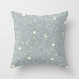 Winter, Merry Christmas collection. Falling Snow. Throw Pillow