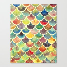 Colorful Scales Canvas Print