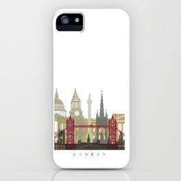 London skyline poster iPhone Case