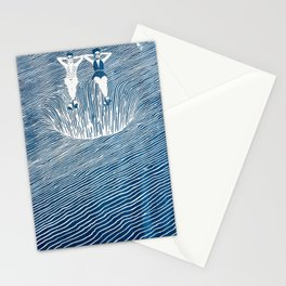 Black Hole Bathing Stationery Cards