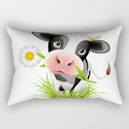 Cute Holstein cow in grass Rectangular Pillow