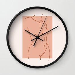 Female Form #3 Wall Clock