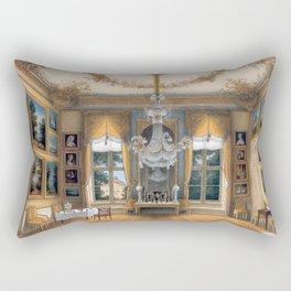 Interior Portrait, Le salon jaune de la reine Louise de Prusse palais de Potsdam by Hans Giersbeg Rectangular Pillow