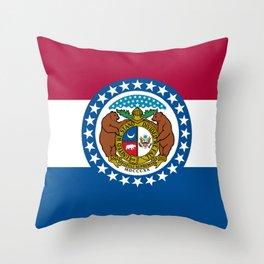 Flag of Missouri Throw Pillow