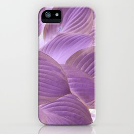 Lavender Purple Glowing Hostas | Nadia Bonello iPhone Case