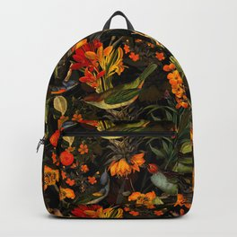 Vintage & Shabby Chic - Midnight Tropical Bird Garden Backpack