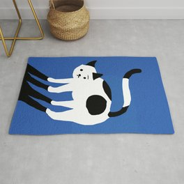 Abstraction_CAT_BLUE Rug