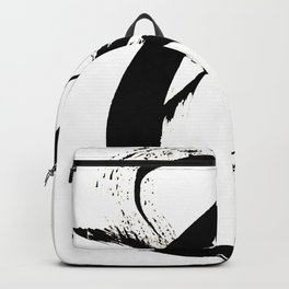 Brushstroke 7: a minimal, abstract, black and white piece Backpack