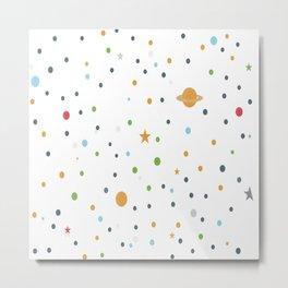 Polka space background Metal Print