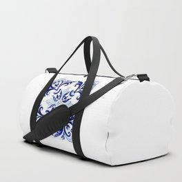 Azulejo V - Portuguese hand painted tiles Duffle Bag