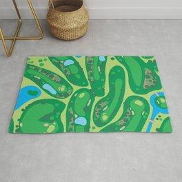 golf course par golf course green Rug