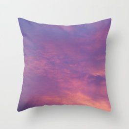 Peach & Violet Blaze Throw Pillow