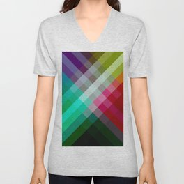 Rainbow 3 color Unisex V-Neck