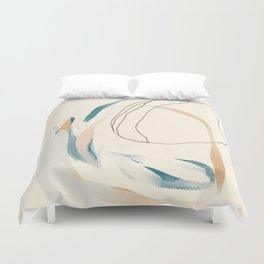 Abstract Lines On Cream. Duvet Cover
