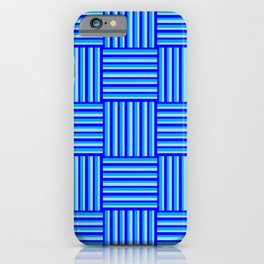 Havana Cabana - Blue Weave Stripe iPhone Case