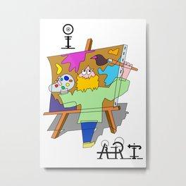 I Art Metal Print