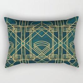 Art Deco Elegant Gatsby Style Rectangular Pillow