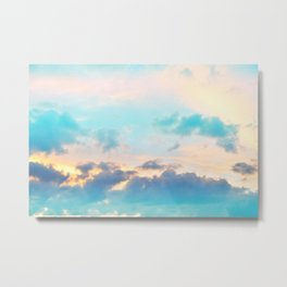 Unicorn Pastel Clouds #4 #decor #art #society6 Metal Print