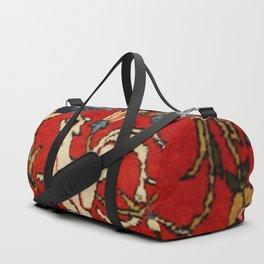 Persian Floral Animal Rug Print Duffle Bag