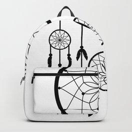 Black Dream Catcher - Native American Indian Art Backpack