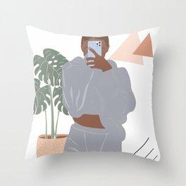 Selfy Teen Art Throw Pillow