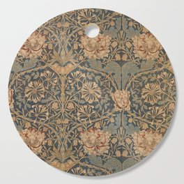 Honeysuckle by William Morris 1876 Antique Vintage Pattern, CC0 Spring Summer Cutting Board