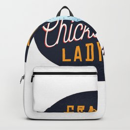 crazy chicken lady  Backpack