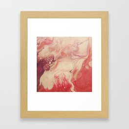 Pink Blush - Abstract Acrylic Art by Fluid Nature Framed Art Print