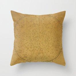 Japanese Star Chart 1677 Throw Pillow
