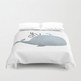 Oh Whale Duvet Cover