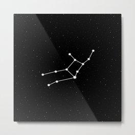 Virgo Star Sign Night Sky Metal Print