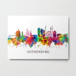 Gothenburg Sweden Skyline Metal Print