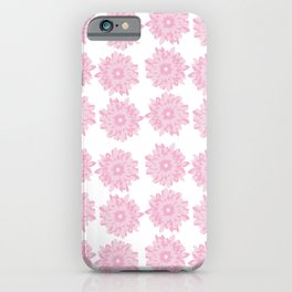 Pink Gerber Daisy Flower iPhone Case