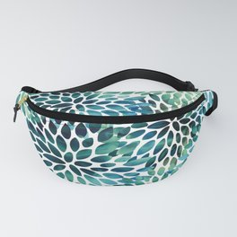 Floral Watercolor, Navy, Blue Teal, Abstract Watercolor Fanny Pack