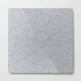 Ab Linea Grey Metal Print