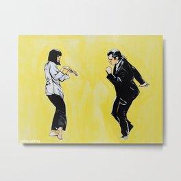 Pulp Fiction 'so dance good' Metal Print