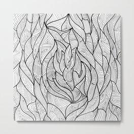 Organic Geometry Metal Print