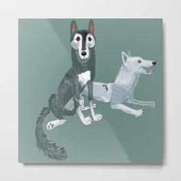 Totem Canadian wolf 1 Metal Print