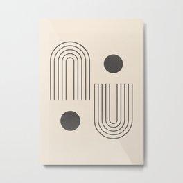Minimal Geometric 71 Metal Print