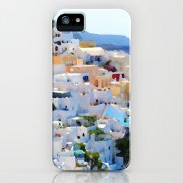Santorini Greece Landscape painting iPhone Case