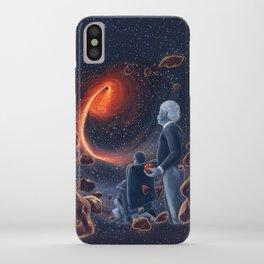 Ghosts in the Sky: Stephen Hawking and Albert Einstein iPhone Case